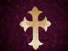 """Wood Cross Unfinished Wooden Craft Crosses Cut Out 11"""" Inch Tall #C11-122"""