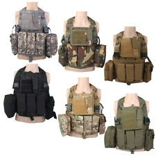TACTICAL ARMY MILITARY COMBAT MOLLE WEBBING ASSAULT VEST AIRSOFT HUNTING POUCH