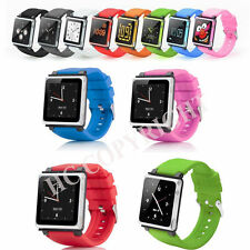 Candy Color Watchband Silicone Case Strap for iPod Nano 6 6th Gen