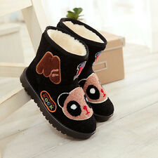 New Womens ankle boots Snow Boots Winter Thicken Warm Fur Lined Cute Flat Shoes