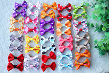 New Pet Hair Bows Mix 18 Pattern Rubber Bands/Clip Bowknot Dog Hair Bows Topknot
