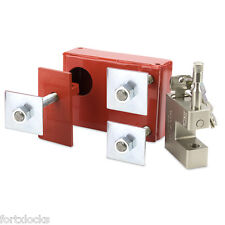 BOLT ON Shipping container lock box ULTIMATE SECURITY. LEFT HAND OPENING DOOR