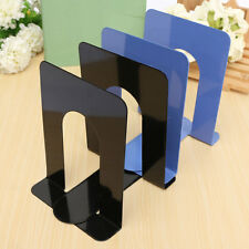 2X 6.7'' L-Shaped Anti-skid Bookend Solid Metal Shelf Book Case Holdr Stationery