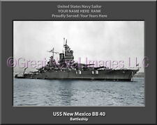 USS New Mexico BB 40 Personalized Canvas Ship Photo Print Navy Veteran Gift