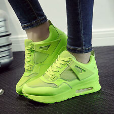 Womens Chic Lace Up Mesh Sneakers Platform Running Casual Sports Trainers Shoes