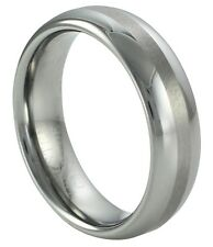 New Tungsten Carbide 6mm Domed Comfort Fit Wedding Band With Brushed Finish