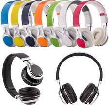 Foldable 3.5mm Wired Stereo Headphone Earphone Headset Mic For Computer & Phone