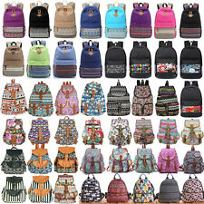 Vintage Retro Women Canvas Travel Rucksack School Bag Satchel Bookbags Backpack
