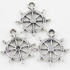 10/20Pcs Charm LOVE Letter Carved Rudder Figure Tibet Silver Pendant 23*20mm