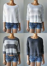NWT HOLLISTER HCO WOMENS Stitch Easy-Fit Scoop Neckline Sweater