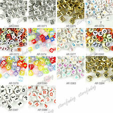 Acrylic DIY Round Heart Cube mixed Alphabet beads letters Wholesale Free Ship