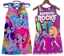 Girl Kids 4-14Y My Little Pony Rainbow Rock Skirt Dress Sleepwear Nightwear Xmas