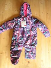 Joules BABY Everly IMPERMEABILE Snowsuit tutto in un unico 6-9 usi RRP £ 41.95 freeukp & P