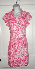 NWT LILLY PULITZER RESORT WHITE GET SPOTTED RAYNA POLO DRESS M L