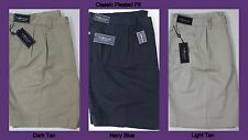 NWT $85 Polo Ralph Lauren Classic Pleated Fit Chino Khaki Shorts Mens Big NEW