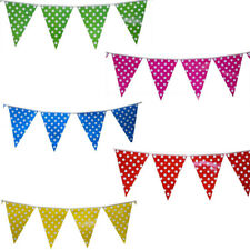 8.2ft Polka Dot Spotty Flag Banner Bunting Garland Party Decorations Supplies