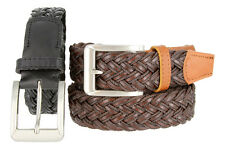 "Casual Braided Fun Leather Fabric Jeans Belt, 1-1/4"" Wide"