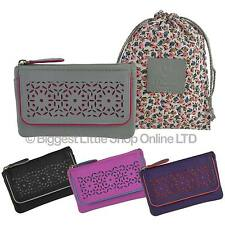 NEW Ladies LEATHER Compact Coin PURSE by MALA; Jasmine Collection Flowers Handy