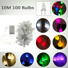 10M 100 Globes Ball Bulbs LED Fairy String Light Lamp Christmas Xmas Party Decor