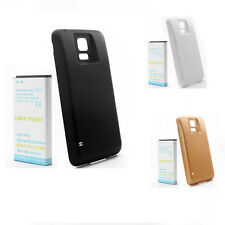 7800mAh Replacement Li-ion Phone Battery + Back Cover Fr Samsung Galaxy S5 i9600