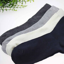 Fashion Man  5 Pairs Solid Bamboo Fiber Breathable Casual Socks Size 39-43 New