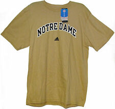 OFFICIAL NCAA ADIDAS NOTRE DAME FIGHTING IRISH SAND GOLD TEE T-SHIRT BNWT