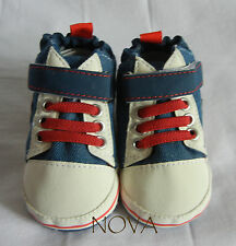 Blue classic casual jean boy infant toddler shoes baby boy shoes size3,