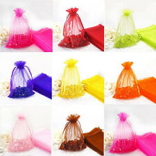 Lots 100Pcs Organza Jewellery Packing Pouches Wedding Party Favours Candy Bags