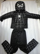 Halloween Kids Boy Black SpiderMan VENOM Costume Tops Mask outfit Xmas Cosplay