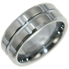 8MM CROSS TUNGSTEN CARBIDE - WEDDING BAND RING size # 8,9,10,11,12