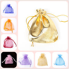 30/100pc Organza Bag Jewelry Packing Pouch Wedding Favour Bag Gift 7*9cm/10*12cm