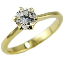 1.35CTW SOLITAIRE ROUND BRILLIANT ENGAGEMENT BRIDAL WEDDING RING size #5,6,8