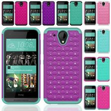 For HTC Desire 520 Hybrid Hard Diamond Bling Cell Phone Case Skin Phone Cover