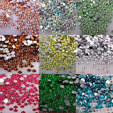 Lots 1000Pcs Nail Art Flatback Crystal AB Facets Resin Round Rhinestone Bead 2mm