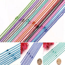Lots 2/5/10Pcs Ball Metal 2.4mm Beads Chains Charms Necklace Jewelry Findings