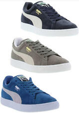 Puma Suede Classic Grey Blue Mens Womens Leather Trainers Size UK 7