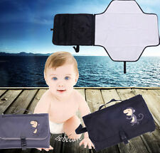 baby outside gray/black nappy diaper changing station pad detachable pad bag