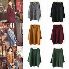 Chic Women Oversized Knitted Batwing Sleeve Cardigan Loose Outwear Coat Sweater