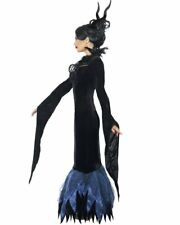 CL549 Lady Raven Queen Demon Witch Evil Maleficent Halloween Fancy Dress Costume