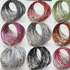 New 10/100Pcs Wire Cable Stainless Steel Chain Charms Cords Makings Bracelet 1mm