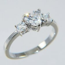 1.09CTW ~HEART~ PRINCESS STONES ENGAGEMENT BRIDAL RING size #6,7,8,9,10