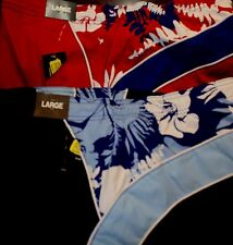 ROUNDTREE & YORKE Floral Print Splice Mens Swim Trunks L XL Big 2X NWT F-784 $49