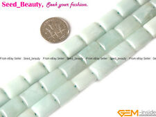 "Smooth Rectangle Amazonite Gemstone Jewelry Making Beads Strand 15"" SD3054-V"