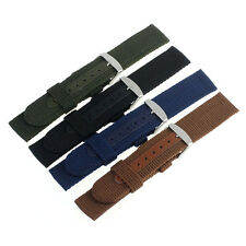 NEW 18/20mm Nylon Wrist Watch Band Strap Stainless Steel Buckle Watch Band Strap