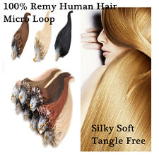 20inch Micro Ring Loop Beads Tipped 100% Remy Real Human Hair Extensions 100S