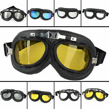 Motorcycle Bicycle Riding Padded Helmet Pilot Goggles Sun Glasses Eyewear