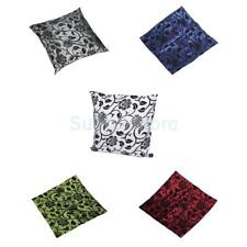 Floral Flocking Throw Pillow Case Home Decorative Cushion Cover Square 17 x 17""