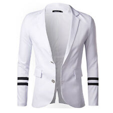 Hot Stylish Men's Slim Fit Long Sleeve Two Button Suits Blazer Coat Jacket Tops