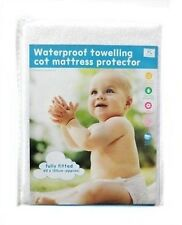Waterproof Terry Towelling Mattress Protector, Fully Fitted Cot Bed / Cot Size