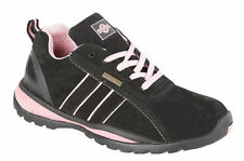 Ladies Safety Trainer Trainers Work Safety Ottawa Boot Steel Toe Cap Black Size